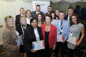 Satabdi Dash (pictured centre) at the FWD Skills & Development Awards